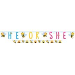 Banner decorativ pentru baby shower - He or She, 120395, 2 buc