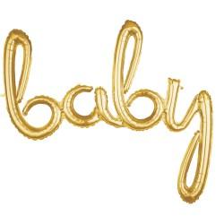 Pachet litere Baby script - auriu, 41 cm, 36690
