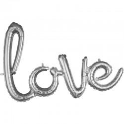 Pachet litere Love script- argintiu, 41 cm, 36695