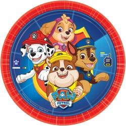 Farfurii carton Paw Patrol pentru petrecere copii - 23 cm, 9903818, Set 8 buc