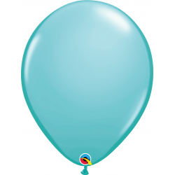 Balon Latex Caribbean Blue, 16 inch (41 cm), Qualatex 50323, set 50 buc