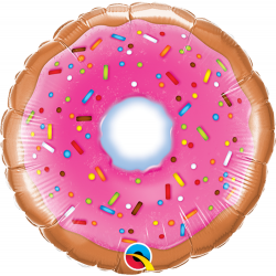 "9"" Donut Air Fill Microfoil Balloon, Qualatex 58455"