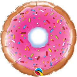 Balon Mini Folie Donut, 23 cm, Qualatex 58455