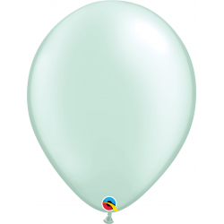 Pearl Mint Green Latex Balloon, 16 inch (41 cm), Qualatex 43891, Pack of 50 pieces
