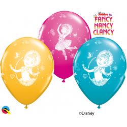 "11"" Fancy Nancy Clancy Printed Latex Balloons, Qualatex 92723, pack of 25 pcs"