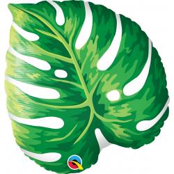 """21"""" Tropical Leaf Shape Foil Balloon, Qualatex 87961"""
