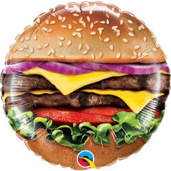 Balon Mini Folie Cheeseburger, 23 cm, Qualatex 58453