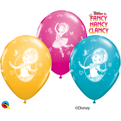 12'' Fancy Nancy Clancy Latex Balloons, Qualatex 89234, Pack of 6 pieces