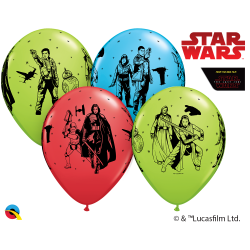 12'' Star Wars - The Last Jedi Latex Balloons, Qualatex 57625, Pack of 6 pieces