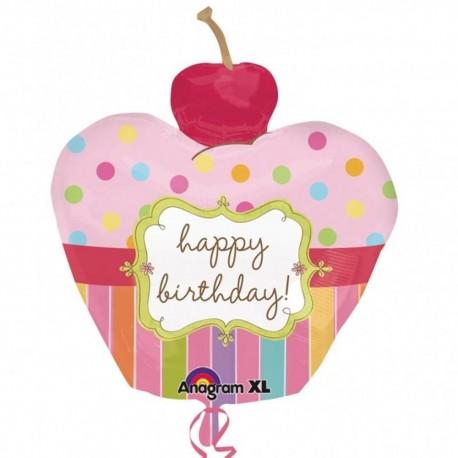 Balon Folie figurina  Bday Cupcake, 24474