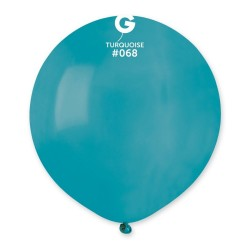 Turquoise 68 Jumbo Latex Balloon, 19 inch (48cm), Gemar G150.68