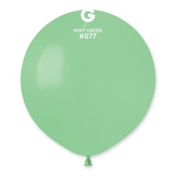 Mint Green 77 Jumbo Latex Balloon, 19 inch (48cm), Gemar G150.77