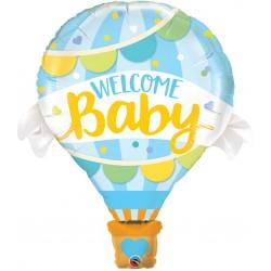 "42"" Welcome Baby Boy Balloon Shape Foil Balloon, Qualatex 78654"