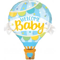 Balon Folie Figurina Welcome Baby Blue Balloon - 106 cm, Qualatex 78654
