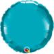 Balon folie metalizat rotund Turquoise - 45 cm, Qualatex 30749