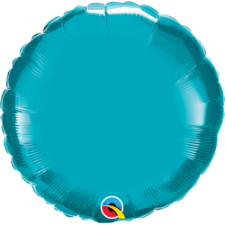 Balon folie metalizat rotund Turquoise - 45 cm, Qualatex 30749