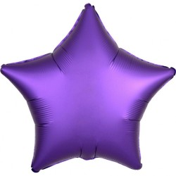 Balon folie 45 cm stea Satin Luxe Purple Royale, Amscan 36820