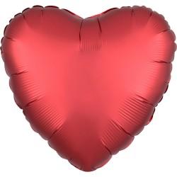 Balon folie inima 45 cm Satin Sangria, 38584