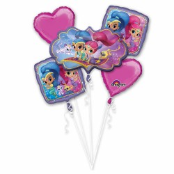 "Bouquet ""Shimmer and Shine"" Foil Balloons, 33943, pack of 5 pieces"