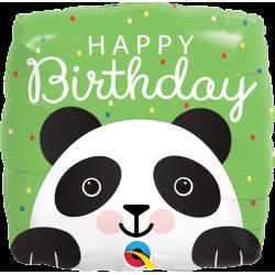 Balon Folie 45 cm Happy Birthday - Panda, Qualatex 87995