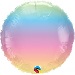 Pastel Ombre Foil Balloon, Qualatex 97430