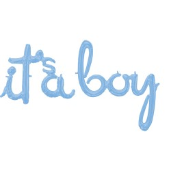 Pachet litere It's a Boy script - pastel blue, 41 cm, 39169
