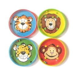 12 Ball Puzzles Animals Plastic 5.6 x 5.6 cm, pack of 12 pieces