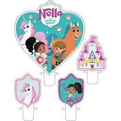 Lumanari pentru tort figurine Nella The Princess, Radar 9904017, Set 4 buc