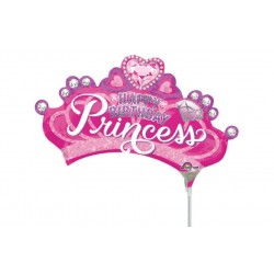 "Princess Crown with Gem Mini Shape Foil Balloon - 14""/36 cm, Radar 34584"