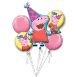 "Bouquet ""Peppa Pig"" Foil Balloons, 31301, pack of 5 pieces"