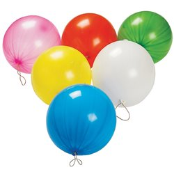 Assorted Punch Ball Latex Balloons , 18 inch (45 cm), Gemar GPB1, Pack Of 50 pieces