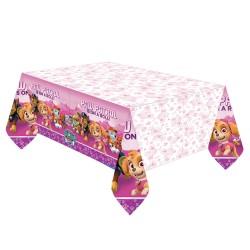 Pink Paw Patrol Plastic Tablecover - 137 cm x 243 cm, Radar 571665,1 piece