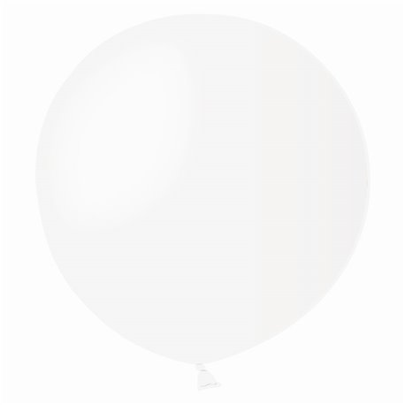 Balon Latex Jumbo 48 cm, Alb 01, Gemar G150.01, set 50 buc