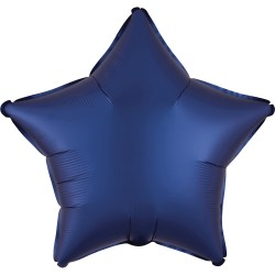 Balon folie 45 cm stea Satin Luxe Navy, Radar 39962