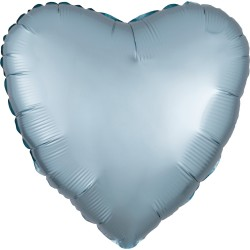 Balon folie inima 45 cm Satin Luxe Pastel Blue, Radar 39911