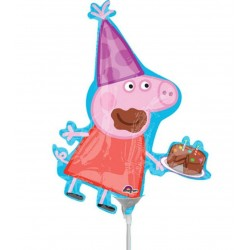 Peppa Pig Mini Shape Foil Balloon - 28 x 33 cm, Radar 34602