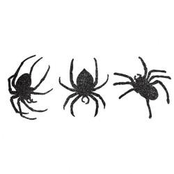Decupaje din carton in forma de paienjeni pentru Halloween, 18.4 x 15.5 cm, 20.3 x 13.9 cm, 19.6 x 17.7 cm, Radar 199496