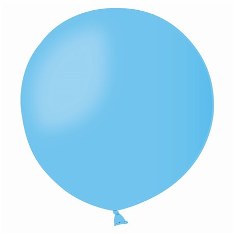Balon Latex Jumbo 48 cm, Albastru Deschis 09, Gemar G150.09, set 50 buc