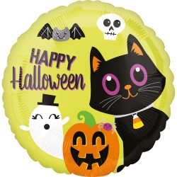 Balon folie inscriptionat Happy Halloween - 45 cm, Radar 38147