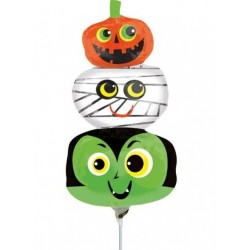 "Halloween Heads Mini Shape Foil Balloon - 14""/36 cm, Radar 35923"