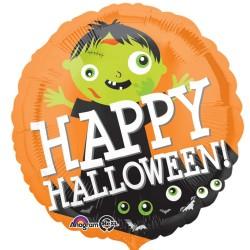 Balon folie inscriptionat Happy Halloween Zombie - 45 cm, Radar 33851