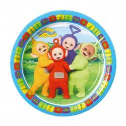 Farfurii carton Teletubbies pentru petrecere copii - 18 cm, Radar 9901388, Set 8 buc