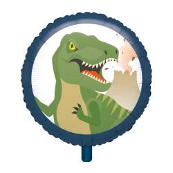 """18"""" Happy Dinosaur Round Foil Balloon, Radar 39252"""