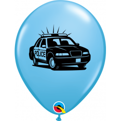 "11"" Police Dept. Printed Latex Balloons, Qualatex 86592"