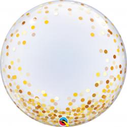 """Balon Deco Bubble - Confetti Multicolore - 24""""/61 cm, Qualatex 57791"""