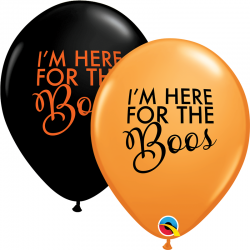 "11"" I'm Here For The Boos Printed Latex Balloons, Qualatex 97358"