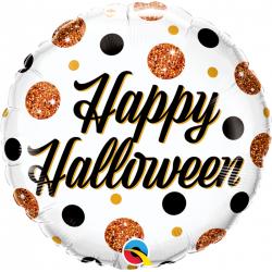 Balon Folie 45 cm Halloween Sparkly Dots, Qualatex 89806