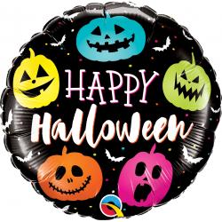 Balon Folie 45 cm Halloween Jack Faces, Qualatex 89822