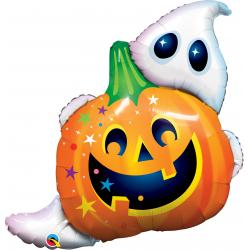 "33"" Halloween Jack n' Ghost Shape Foil Balloon, Qualatex 89964"