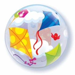 "Balon Bubble 22""/56 cm inscriptionat Zmeu, Qualatex 41508"